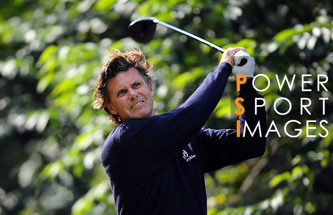 TAIPEI, TAIWAN - NOVEMBER 20:  Anders Forsbrand of Sweden tees off on the 5th hole during day three of the Fubon Senior Open at Miramar Golf & Country Club on November 20, 2011 in Taipei, Taiwan. Photo by Victor Fraile / The Power of Sport Images