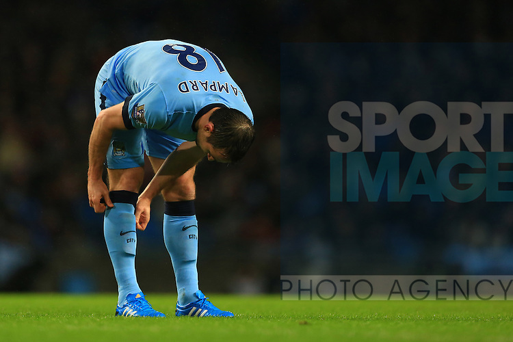 Frank Lampard of Manchester City - Manchester City vs. Sunderland - Barclay's Premier League - Etihad Stadium - Manchester - 28/12/2014 Pic Philip Oldham/Sportimage