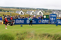 Haotong Li (CHN) on the 18th tee during the 3rd round of the Dubai Duty Free Irish Open, Lahinch Golf Club, Lahinch, Co. Clare, Ireland. 06/07/2019<br /> Picture: Golffile | Thos Caffrey<br /> <br /> <br /> All photo usage must carry mandatory copyright credit (© Golffile | Thos Caffrey)