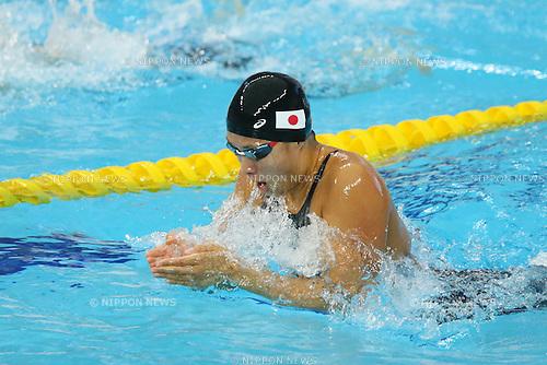 Satomi Suzuki (JPN), <br /> SEPTEMBER 21, 2014 - Swimming : <br /> Women's 100m Breaststroke Heat <br /> at Munhak Park Tae-hwan Aquatics Center <br /> during the 2014 Incheon Asian Games in Incheon, South Korea. <br /> (Photo by YUTAKA/AFLO SPORT) [1040]