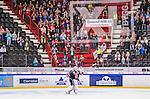 S&ouml;dert&auml;lje 2014-09-22 Ishockey Hockeyallsvenskan S&ouml;dert&auml;lje SK - IF Bj&ouml;rkl&ouml;ven :  <br /> S&ouml;dert&auml;ljes m&aring;lvakt Tim Sandberg dansar framf&ouml;r S&ouml;dert&auml;ljes supportrar efter matchen och segern &ouml;ver Bj&ouml;rkl&ouml;ven<br /> (Foto: Kenta J&ouml;nsson) Nyckelord: Axa Sports Center Hockey Ishockey S&ouml;dert&auml;lje SK SSK Bj&ouml;rkl&ouml;ven L&ouml;ven IFB jubel gl&auml;dje lycka glad happy supporter fans publik supporters