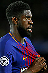 UEFA Champions League 2017/2018.<br /> Quarter-finals 1st leg.<br /> FC Barcelona vs AS Roma: 4-1.<br /> Samuel Umtiti.