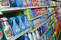 Various cloth washing products of various brands are seen in a Metro grocery store in Quebec city March 4, 2009.