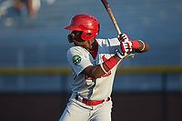 Carlos Soler (13) of the Johnson City Cardinals at bat against the Burlington Royals at Burlington Athletic Stadium on September 3, 2019 in Burlington, North Carolina. The Cardinals defeated the Royals 7-2 to even Appalachian League Championship series at one game a piece. (Brian Westerholt/Four Seam Images)