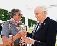 Connections of Billesdon Bess receive their trophy after winning The British Stallion Studs EBF Margadale Fillies Handicap, during Afternoon Racing at Salisbury Racecourse on 13th June 2017