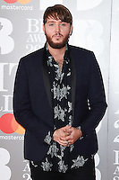 James Arthur at the 2017 Brit Awards at the O2 Arena in London, UK. <br /> 22 February  2017<br /> Picture: Steve Vas/Featureflash/SilverHub 0208 004 5359 sales@silverhubmedia.com