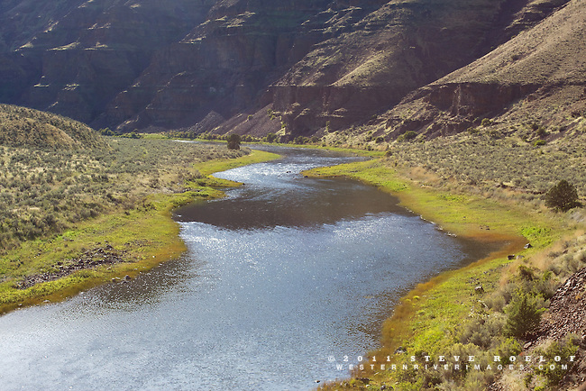Afternoon light on the John Day River.