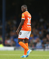 Blackpool's Sullay Kaikai<br /> <br /> Photographer Rob Newell/CameraSport<br /> <br /> The EFL Sky Bet Championship - Southend United v Blackpool - Saturday 10th August 2019 - Roots Hall - Southend<br /> <br /> World Copyright © 2019 CameraSport. All rights reserved. 43 Linden Ave. Countesthorpe. Leicester. England. LE8 5PG - Tel: +44 (0) 116 277 4147 - admin@camerasport.com - www.camerasport.com