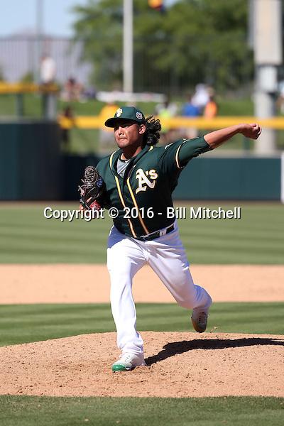 Sean Manaea - Oakland Athletics 2016 spring training (Bill Mitchell)