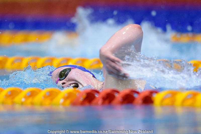 Cecilia Crooks in action during Session Three of the 2016 New Zealand Secondary Schools Championships, Wellington Regional Aquatic Centre, Wellington, New Zealand, Saturday 10 September 2016. Photo: Marco Keller / www.bwmedia.co.nz
