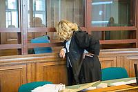 Prozess vor dem Amtsgericht Berlin gegen einen 19jaehrigen aus Syrien stammenden Palaestinenser, der am 17. April 2018 in Berlin zwei einen Israeli und einen Deutsch-Marokkaner antisemitisch beschimpft und mit seinem Guertel geschlagen haben soll. Der Deutsch-Marokkaner und sein israelischer Freund hatten im Stadtteil Prenzlauer Berg eine Kippa gerragen, als sie von dem 19jaehrigen Angeklagten zuerst beschimpft und dann geschlagen wurden.<br /> Im Bild: Der Angeklagte auf der Anklagebank. Vor ihm seine Verteidigerin Ria Halbritter.<br /> 19.6.2018, Berlin<br /> Copyright: Christian-Ditsch.de<br /> [Inhaltsveraendernde Manipulation des Fotos nur nach ausdruecklicher Genehmigung des Fotografen. Vereinbarungen ueber Abtretung von Persoenlichkeitsrechten/Model Release der abgebildeten Person/Personen liegen nicht vor. NO MODEL RELEASE! Nur fuer Redaktionelle Zwecke. Don't publish without copyright Christian-Ditsch.de, Veroeffentlichung nur mit Fotografennennung, sowie gegen Honorar, MwSt. und Beleg. Konto: I N G - D i B a, IBAN DE58500105175400192269, BIC INGDDEFFXXX, Kontakt: post@christian-ditsch.de<br /> Bei der Bearbeitung der Dateiinformationen darf die Urheberkennzeichnung in den EXIF- und  IPTC-Daten nicht entfernt werden, diese sind in digitalen Medien nach §95c UrhG rechtlich geschuetzt. Der Urhebervermerk wird gemaess §13 UrhG verlangt.]