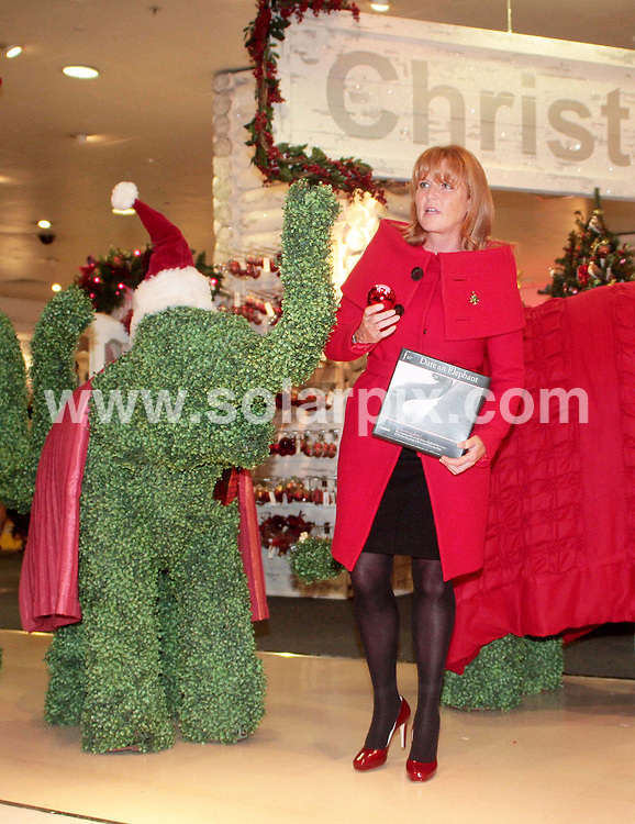 **ALL ROUND PICTURES FROM SOLARPIX.COM**.**NO UK NEWSPAPER PUBLICATION **UK MAGAZINE & SUPPLEMENT PUBLICATION ONLY** AND NO PUBLICATION IN FRANCE, SCANDINAVIA, AUSTRALIA AND GERMANY** .The regal procession led by the Duchess of York Sarah Ferguson arriving with the Elephant Family herd for the opening of Londons most famous department store the Selfridges Christmas Shop and the launch of this years greenest stocking filler the Date an Elephant gift ...JOB REF:6980-SFE       DATE:07_08_08 .**MUST CREDIT SOLARPIX.COM OR DOUBLE FEE WILL BE CHARGED* *UNDER NO CIRCUMSTANCES IS THIS IMAGE TO BE REPRODUCED FOR ANY ONLINE EDITION WITHOUT PRIOR PERMISSION*