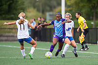 Allston, MA - Sunday July 31, 2016: Brittany Ratcliffe, Jamia Fields during a regular season National Women's Soccer League (NWSL) match between the Boston Breakers and the Orlando Pride at Jordan Field.