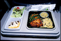 Airplane Food, Over the Atlantic Ocean. December 1999 © Stephen Blake Farrington