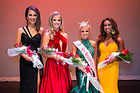 Callie Brown, a senior biological sciences major from Lucedale, proudly wears her crown after winning the title of Miss Mississippi State University 2018 during Friday's [Sept. 29] Miss MSU competition. Brown will represent the university during next summer's Miss Mississippi pageant in Vicksburg. Pictured with Brown are, from left to right, third runner up Hannah Oliver of Stuttgart, Arkansas, a sophomore fashion merchandising major; second runner up Rachel Shumaker of Pontotoc, a freshman communication major; and first runner up Alivia Paden Roberts of Shannon, a senior communication major.<br />