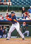 12 March 2014: Houston Astros outfielder George Springer in action during a Spring Training game against the Washington Nationals at Osceola County Stadium in Kissimmee, Florida. The Astros rallied in the bottom of the 9th to edge out the Nationals 10-9 in Grapefruit League play. Mandatory Credit: Ed Wolfstein Photo *** RAW (NEF) Image File Available ***