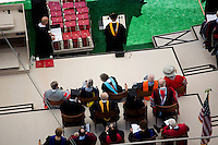 MIT faculty sit on stage during the 2012 MIT Commencement on June 8, 2012, in Cambridge, Massachusetts, USA...Photo by M. Scott Brauer