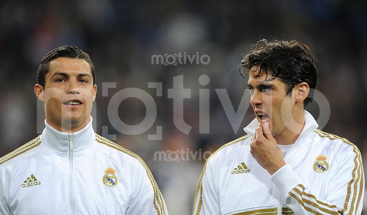 FUSSBALL   CHAMPIONS LEAGUE   SAISON 2011/2012  Achtelfinale Rueckspiel 14.03.2012 Real Madrid  - ZSKA Moskau  Cristiano Ronaldo (li, Real Madrid) und Kaka (Real Madrid)