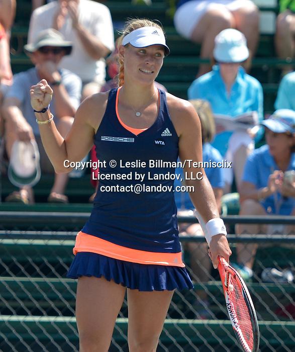 Angelique Kerber (GER) defeats Lara Arruabarrena (ESP) 6-3, 6-0 at the Family Circle Cup in Charleston, South Carolina on April 9, 2015.