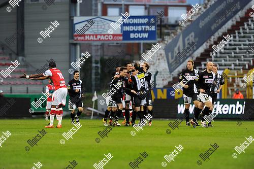 2012-04-20 / Voetbal / seizoen 2011-2012 / R. Antwerp FC - Eendracht Aalst / Aalst scoorde via Sam Crispijn al vroeg de 0-1..Foto: Mpics.be