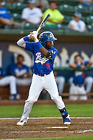Errol Robinson (9) of the Ogden Raptors at bat against the Grand Junction Rockies in Pioneer League action at Lindquist Field on August 25, 2016 in Ogden, Utah. The Rockies defeated the Raptors 12-3. (Stephen Smith/Four Seam Images)