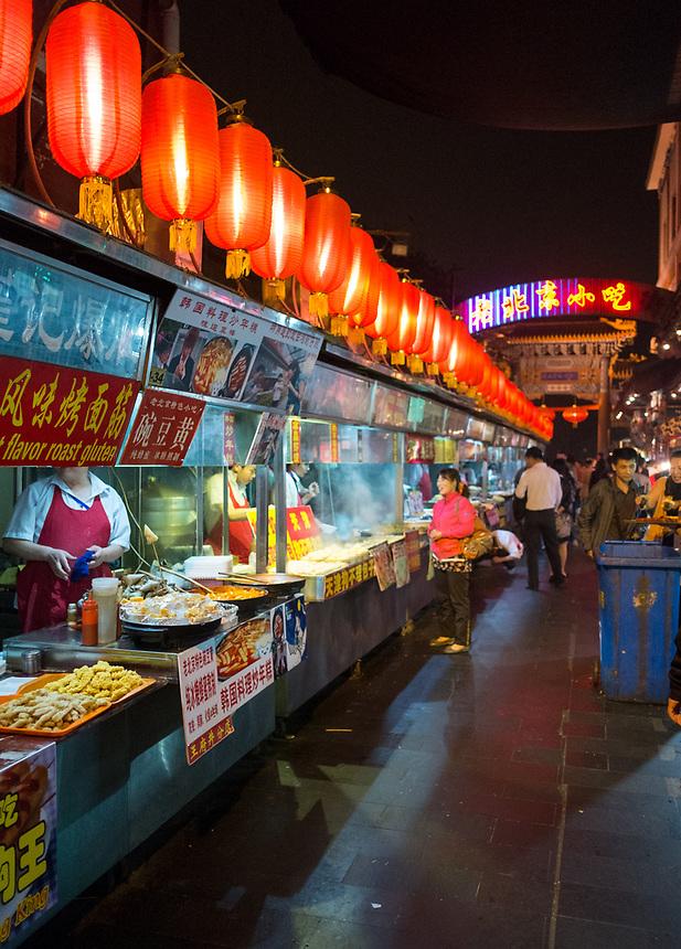 BEIJING,CHINA: October 12, 2012. Beijing travel.<br /> Dong Hua Men Night Market