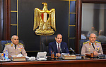 Egyptian President Abdel Fattah al-Sisi chairs a meeting of the Supreme council of the armed forces to mark the 42th anniversary of October War Victory in Cairo, Egypt, on October 4, 2017. Photo by Egyptian President Office