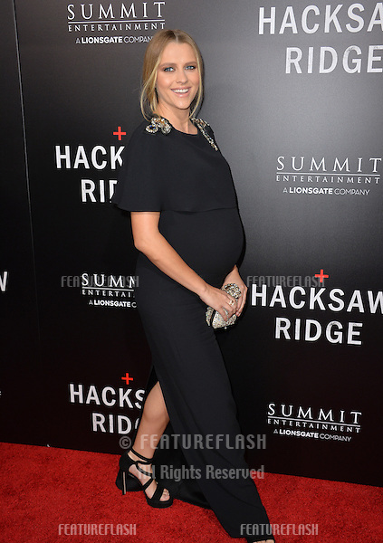 LOS ANGELES, CA. October 24, 2016: Actress Teresa Palmer at the Los Angeles premiere of &quot;Hacksaw Ridge&quot; at The Academy's Samuel Goldwyn Theatre, Beverly Hills.<br /> Picture: Paul Smith/Featureflash/SilverHub 0208 004 5359/ 07711 972644 Editors@silverhubmedia.com