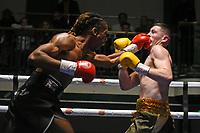 Ryan Robinson (black shorts) defeats Thomas Barrett during a Boxing Show at York Hall on 15th February 2020