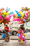 PHILIPPINES, Manila, Qulapo District, ballons for sale at the Quina Market