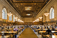 The ROSE READING ROOM inside the NEW YORK CITY PUBLIC LIBRARY