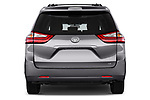 Straight rear view of a 2017 Toyota Sienna LE 5 Door Mini Van stock images