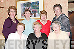 SOCIAL: Enjoying the North Kerry Pioneer Social at Kirbys Lanterns Hotel, Tarbert, on Friday night were, front l-r: Eileen Carrig, Margaret Bradbury and Nora Horan. Back l-r: Maureen James, Liz Kelly, Kitty Kissane and Mary Holland (Tarbert)..