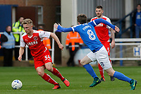 Fleetwood Town's Kyle Dempsey gets away from Peterborough United's Chris Forrester<br /> <br /> Photographer David Shipman/CameraSport<br /> <br /> The EFL Sky Bet League One - Peterborough United v Fleetwood Town - Friday 14th April 2016 - ABAX Stadium  - Peterborough<br /> <br /> World Copyright &copy; 2017 CameraSport. All rights reserved. 43 Linden Ave. Countesthorpe. Leicester. England. LE8 5PG - Tel: +44 (0) 116 277 4147 - admin@camerasport.com - www.camerasport.com