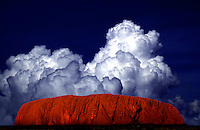Ayers Rock and Clouds