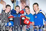 KICKBOXING: David O'Sullivan Tralee instructing a Kevin O'Sullivan (caherdaniel Y.C), Joe Murphy (Sneem YC.) and Anthony Tyler (Portmagee YC), in Kickboxing in awareness of Drugs at the KDYS Youth Day in the Brandon Hotel, Tralee on Sunday..