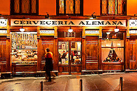 Cerveceria Alemana tapas restaurant and bar, Madrid, Spain
