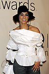 Alicia keys attending the VH1 Vogue Fashion Awards at Hamerstein Ballroon in New York City on 10/19/2001