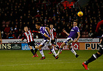 Mark Duffy of Sheffield Utd curls in a shot during the Championship match at Bramall Lane Stadium, Sheffield. Picture date 30th December 2017. Picture credit should read: Simon Bellis/Sportimage
