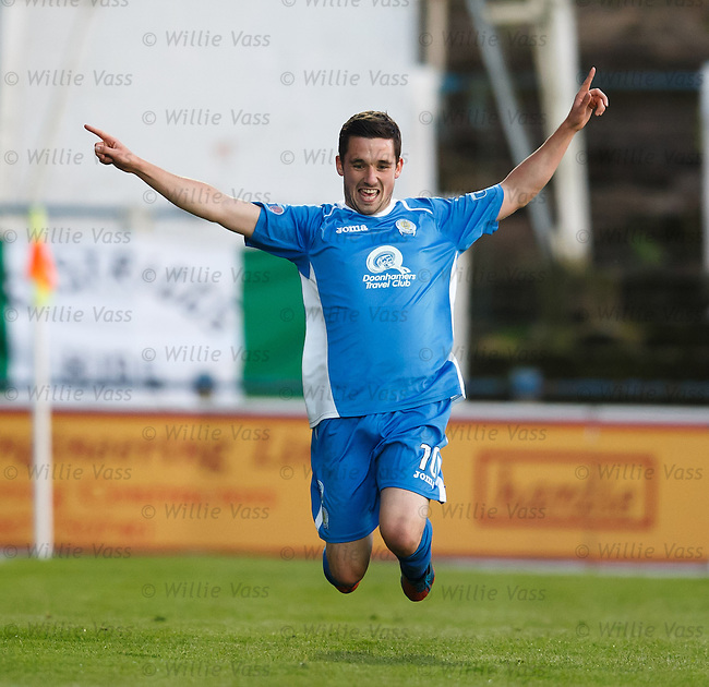 Nicky Clark celebrates his goal for QOS