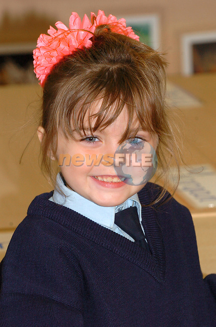leanne Coyle.Callystown  national School.First day at School.Picture Fran Caffrey Newsfile.