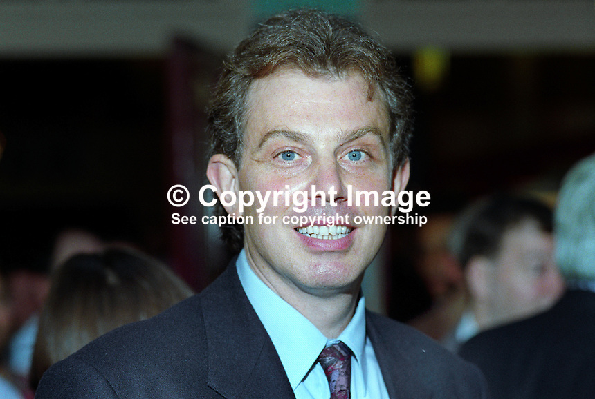 Tony Blair, MP, Labour Party, politician, UK, 19921018TB.<br />