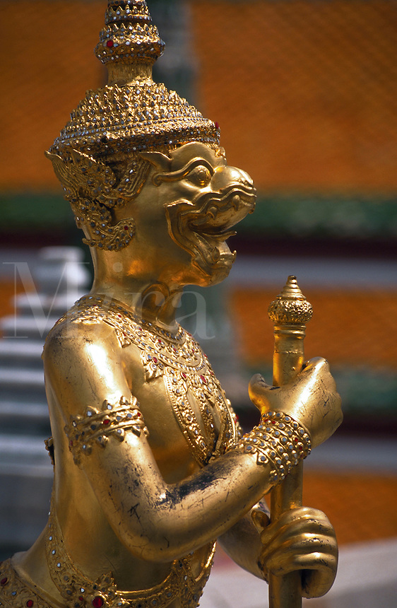 Wat Phra Kaew in Bangkok, the Temple of the Emerald Buddha, Thailand