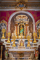 Frankreich, Provence-Alpes-Côte d'Azur, Menton: Chapelle de l'Immaculée-Conception - innen - Marienaltar | France, Provence-Alpes-Côte d'Azur, Menton: Chapelle de l'Immaculée-Conception - interior - altar with Blessed Virgin Mary