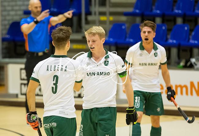 ROTTERDAM  - NK Nacompetitie Zaalhockey .    rechts  Jochem Bakker (r'dam)   COPYRIGHT KOEN SUYK