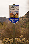 Oregon Scenic Byway sign.