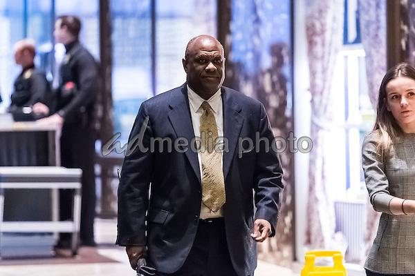 Lockheed Martin Senior Vice President Leo S. Mackay, Jr. is seen in the lobby of Trump Tower in New York, NY, USA on January 3, 2017. Photo Credit: Albin Lohr-Jones/CNP/AdMedia