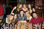 Enjoying the new year's eve festivities in the Anchor Bar in Cahersiveen were front l-r; Marie Donnelly, Laura Curran, Shane Curran, Aoife Woods, Owen Riordan, back l-r; Bria Murphy, Sine?ad O'Sullivan & Sharon Moran.
