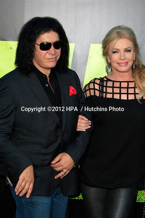 "LOS ANGELES - JUN 25:  Gene Simmons, Shannon Tweed arrives at the ""Savages"" Premiere at Village Theater on June 25, 2012 in Westwood, CA"
