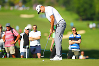 Marcus Fraser putts on the 2nd green during the BMW PGA Golf Championship at Wentworth Golf Course, Wentworth Drive, Virginia Water, England on 25 May 2017. Photo by Steve McCarthy/PRiME Media Images.